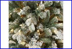7′ Prelit Snow Kissed Twinkling Slim Tree Valerie Parr Hill QVC Christmas Decor