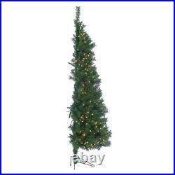 7′ Tiffany Prelit Pine Wall Tree