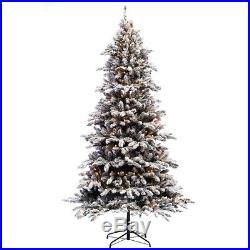 7 ½ ft Pre-lit Flocked Bennington Fir Artificial Christmas Tree 400 UL listed