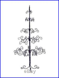 7 ft. Wrought Iron Decor Christmas Tree Black ID 170339