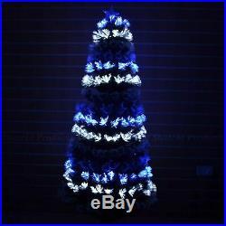 7ft Fiber Optic Christmas Tree Pre-Lit Xmas LED Lights Decor Decorations 210cm
