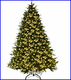 7ft Prelit Christmas Tree Realistic Thick Hinged Pine Cones LED Lights & Stand