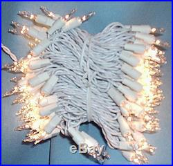 800 MINI CHRISTMAS 2x 400 CLEAR LIGHTS WHITE WIRE CORD IN/OUTDOOR WEDDING