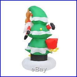 82 New Colorful Inflatable Christmas Tree Santa Holiday Decoration LED Light