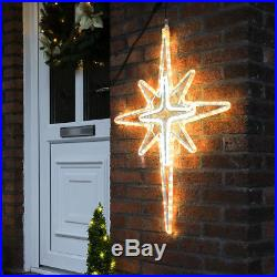 88cm Aluminium Outdoor Garden Wall Christmas Star Motif Sign Silhouette Light
