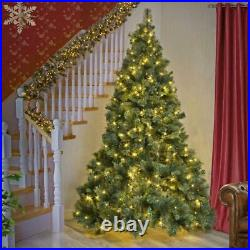 8Ft Bushy Green Kentucky Pine Pre Lit Christmas Tree Xmas Home Decorations 2.4M