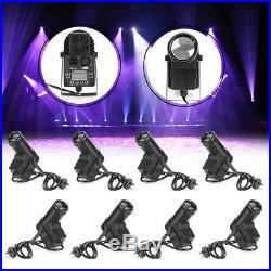 8Pack DMX512 30W RGBW LED Spotlight Stage Lighting Pinspot Beam DJ Disco Party
