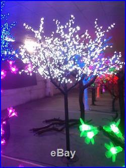 8.2ft pre-lit LED Xtmas artificial cherry blossom tree light outdoor lighting
