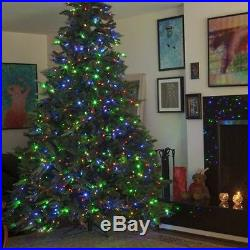 8.5 Ft Deluxe Lights Artificial Christmas Tree Xmas Holiday Multicolor LED Decor