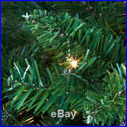 8.5′ Full Tiffany Tree Warm White LED Lights holiday artificial christmas Xmas