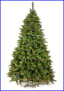 8.5′ x 61 Cashmere Pine Artificial Christmas Tree with Multi-Color LED Lights