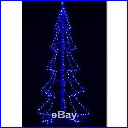 8 Ft Blue LED Pre-Lit 3D Silhouette Tree Christmas Tree Holiday Yard Decor