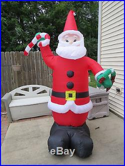 8′ Inflatable Santa Claus Christmas Lighted Winter Yard Decor BXD 10