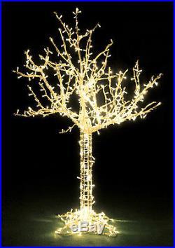 8′ LED Lighted Cumberland Tree Christmas Display Decoration Warm White Lights