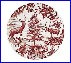 8 New Pottery Barn Alpine Toile Dinner Amp Salad Plates Red