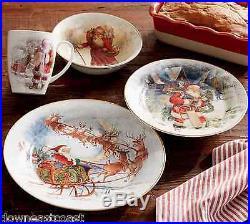 8 NEW Pottery Barn NOSTALGIC SANTA DINNERWARE set 8 BOWLS nwt CHRISTMAS gifts