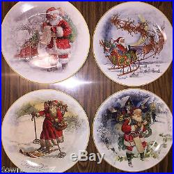 8 NEW Pottery Barn NOSTALGIC SANTA DINNERWARE set of 8 Dinner Plates NIB