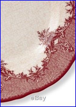 8 NEW Williams Sonoma HEIRLOOM Salad Plates Crimson Arbor Christmas Decor