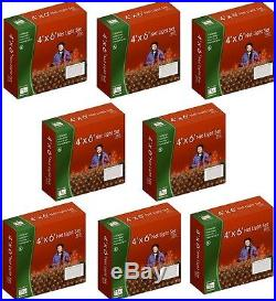 (8) Noma 48953-88 Holiday Wonderland 150 ct 4′ x 6′ Red Net Christmas Lights