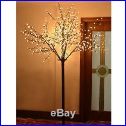 8ft Christmas Light Tree 600 LED Cherry Blossom Flower Tree Light Decoration