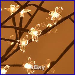 8ft Christmas Light Tree 600 Led Cherry Blossom Flower
