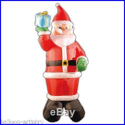 8ft Deluxe Light Up Christmas Santa Claus Outdoor Inflatable Garden Decoration