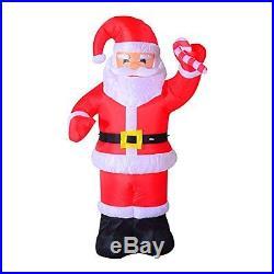 8ft IndoorOutdoor LED Inflatable Holiday Christmas Yard Decoration Santa HOMCOM