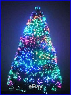 8ft Pre Lit Christmas Trees Fiber Optic Tree Artificial Christmas Trees