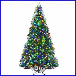 9Ft Artificial Christmas Tree Pre-Lit Hinged with 1000 LED Lights & Stand Décor
