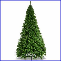 9Ft PVC Artificial Christmas Tree 2132 Tips Premium Hinged with Metal Legs Green