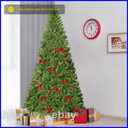 9Ft Unlit Hinged PVC Artificial Christmas Tree Premium Spruce Tree with 2094 Tips