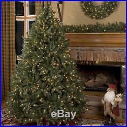 9.5′ Full Douglas Fir Tree Clear Lights holiday artificial christmas Xmas green