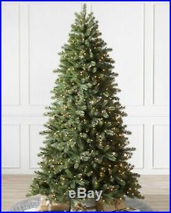 9′ Balsam Hill Woodland Spruce Flip Narrow 56 Christmas Tree with Easy Plug