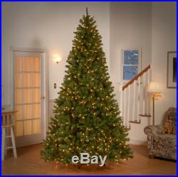 9 FEET Green Spruce Artificial Christmas Tree with 700 Warm White Lights