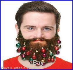 9 Fun Novelty Clip On Beard Xmas Baubles Facial Hair Clips Secret Santa Gift