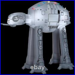 9′ Gemmy Airblown Inflatable Star Wars AT-AT Walker with Christmas Light Strings