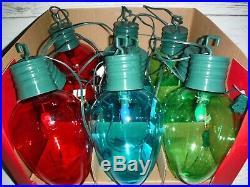 9 New 14 Christmas Blow Mold Light Bulbs Hanging Ornaments Blowmolds