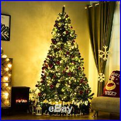 9′ Prelit PVC Artificial Christmas Xmas Tree 900 Warm White LED 2028 Tip Green
