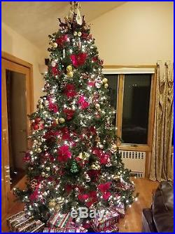 9 ft. Artificial Christmas Tree with Decorations