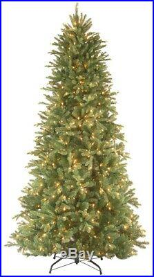 9 ft. Artificial Feel Real Slim Hinged Christmas Tree Prelit with 800 Clear Lights