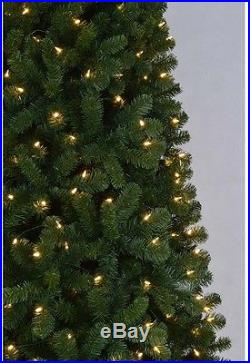 9 ft. Pre-Lit Tall Artificial Christmas Tree Warm White LED Pine Folding Stand
