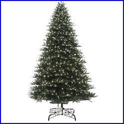 9 ft Prelit Warm White LED Lights BRISTLE FIR Christmas Tree with Storage Bag