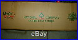 9ft Hinged National Tree Dunhill Fir Full Artificial Wide feet foot ft. Xmas EUC