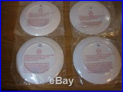 9pc Pottery Barn Kids Santa Rudolph Reindeer Tablecloth Plates Tumbler Cups NWT