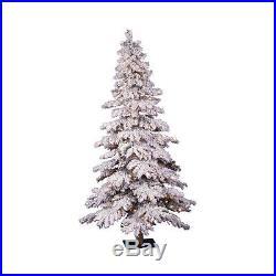 A806261 Prelit Flocked Spruce Alpine Christmas Tree