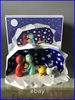 ALESSI Christmas Happy Eternity Baby AGJ01 W Nativity Scene