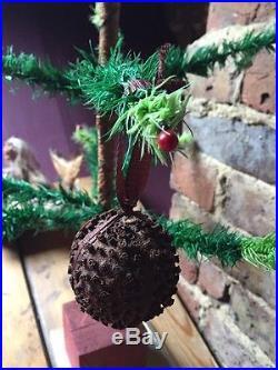 ANTIQUE VINTAGE CHRISTMAS TREE ORNAMENT DECORATION VICTORIAN ORANGE POMANDER