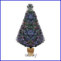 ARTIFICIAL CHRISTMAS TREE 32 Pre Lit Fiber Optic Green Holiday Xmas Home Decor