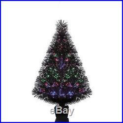 ARTIFICIAL CHRISTMAS TREE Pre Lit 32 Fiber Optic Color Change Lighting Holiday
