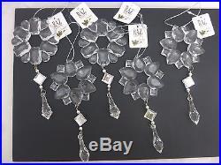 Acrylic crystal drop flower ornaments Raz Imports Brand New